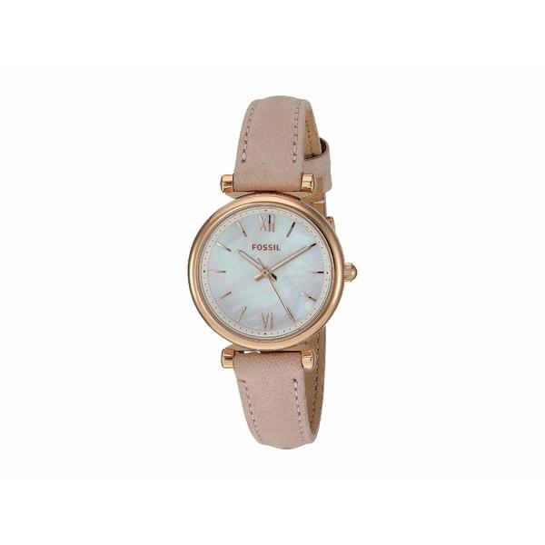 フォッシル レディース 腕時計 アクセサリー Carlie Mini Three-Hand Leather Watch ES4699 Rose Gold Blush Leather