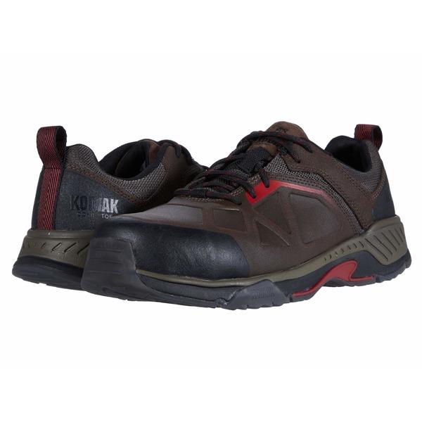 コディアック メンズ スニーカー シューズ LKT 1 Composite Toe Hiker Brown/Red