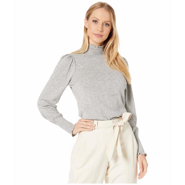 レベッカテイラー レディース ニット&セーター アウター Cozy Cotton Turtleneck Pullover Light Grey Heather