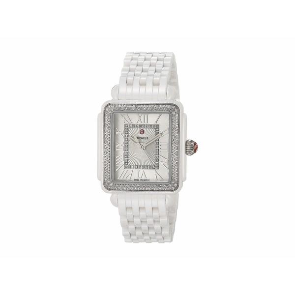 ミッシェル レディース 腕時計 アクセサリー Deco Madison Mid Diamond - White Ceramic White
