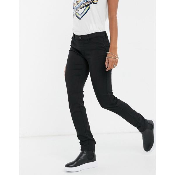 rise ボトムス skinny Moschino black ラブ レディース in low モスキーノ デニムパンツ jeans Black Love