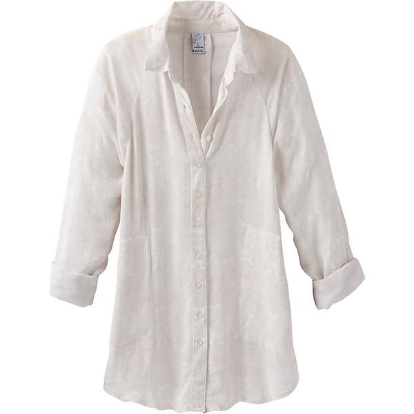 プラーナ レディース シャツ トップス Prana Women's Hele Mai Shirt White Akoa