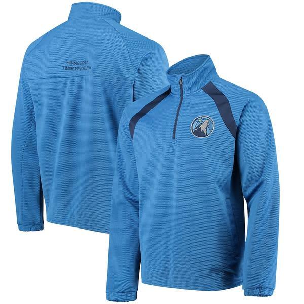 カールバンクス メンズ ジャケット&ブルゾン アウター Minnesota Timberwolves G-III Sports by Carl Banks High Impact Quarter-Zip Pullover Jacket Blue