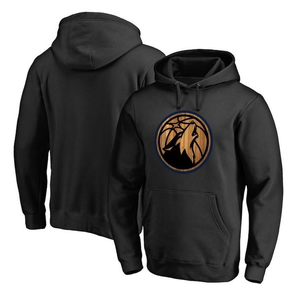 ファナティクス メンズ パーカー・スウェットシャツ アウター Minnesota Timberwolves Fanatics Branded Logo Hardwood Pullover Hoodie Black