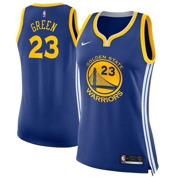 ナイキ レディース シャツ トップス Draymond Green Golden State Warriors Nike Women's Swingman Jersey Blue Icon Edition