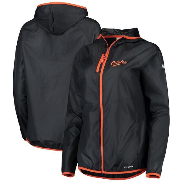 マジェスティック レディース ジャケット&ブルゾン アウター Baltimore Orioles Majestic Women's Absolute Dominance Dry Base Full-Zip Jacket Black