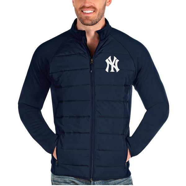 アンティグア メンズ ジャケット&ブルゾン アウター New York Yankees Antigua Altitude Full-Zip Jacket Navy
