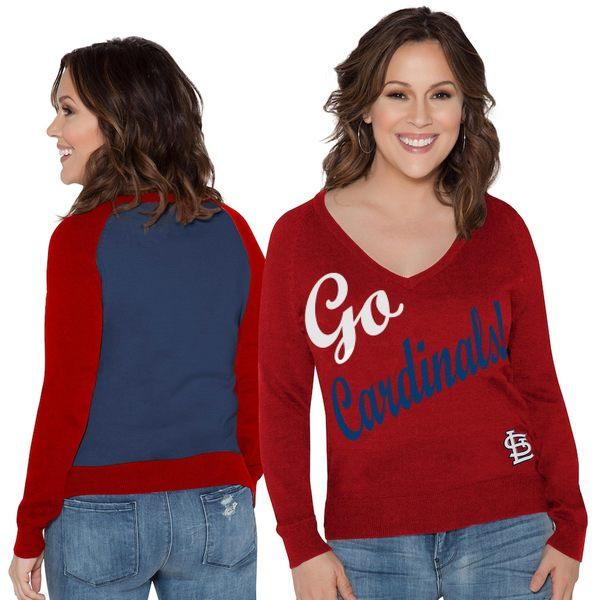アリッサミラノ レディース シャツ トップス St. Louis Cardinals Touch by Alyssa Milano Women's MVP Pullover Sweatshirt Red