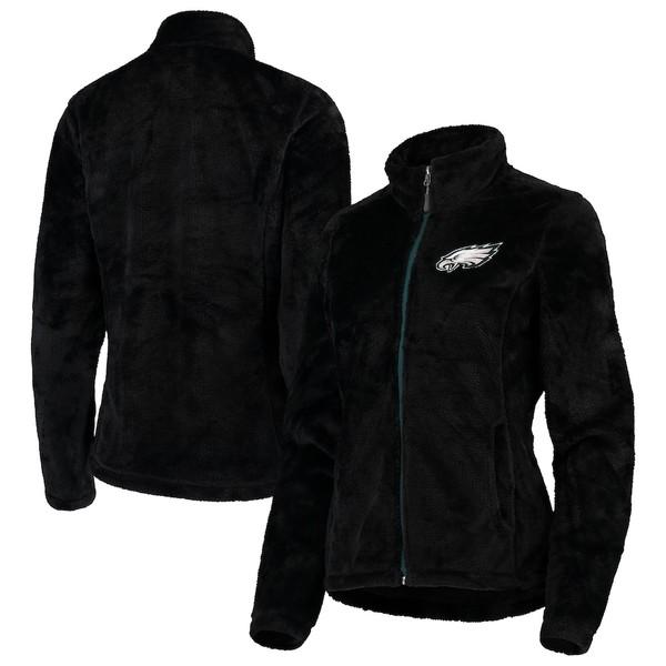 カールバンクス レディース ジャケット&ブルゾン アウター Philadelphia Eagles G-III 4Her by Carl Banks Women's Goal Line Full-Zip Jacket Black