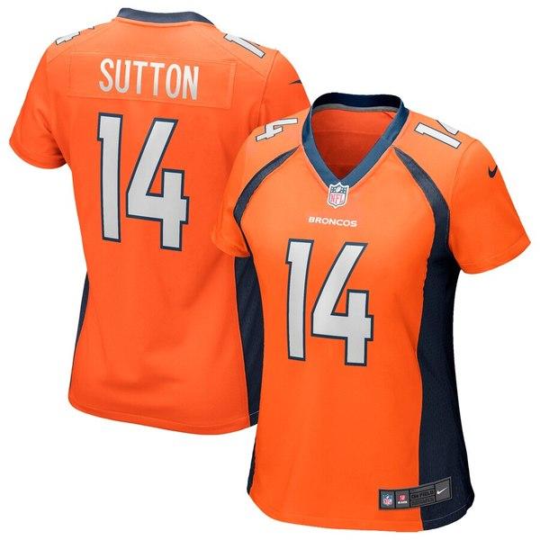 ナイキ レディース シャツ トップス Courtland Sutton Denver Broncos Nike Women's Game Jersey Orange