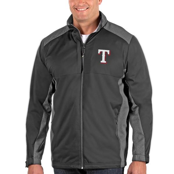 アンティグア メンズ ジャケット&ブルゾン アウター Texas Rangers Antigua Revolve Big & Tall Full-Zip Jacket Charcoal