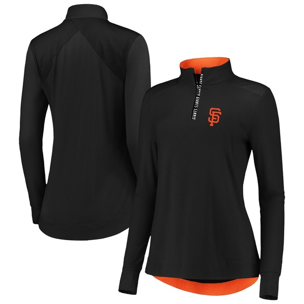ファナティクス レディース ジャケット&ブルゾン アウター San Francisco Giants Fanatics Branded Women's Iconic Clutch Half-Zip Pullover Jacket Black