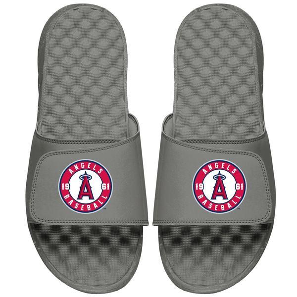 アイスライド メンズ サンダル シューズ Los Angeles Angels ISlide Alternate Logo Slide Sandals Gray