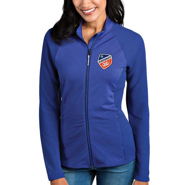 アンティグア レディース ジャケット&ブルゾン アウター FC Cincinnati Antigua Women's Sonar FullZip Jacket Blue