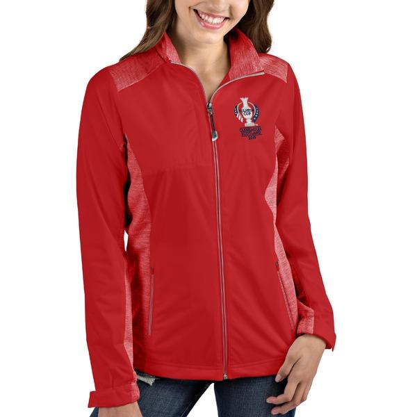 アンティグア レディース ジャケット&ブルゾン アウター 2019 Solheim Cup Antigua Women's Revolve FullZip Jacket Red/Heather Red