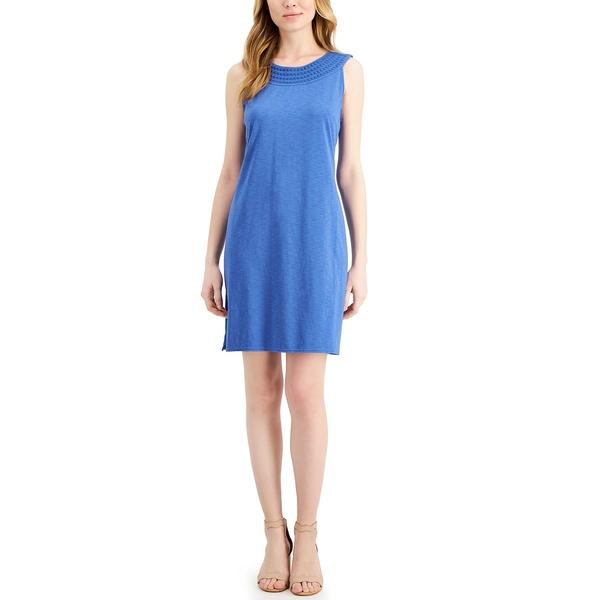 ブランド品専門の トッミーバハマ レディース ワンピース トップス Embroidered Shift Dress Amsterdam Blue, 温泉津町 045f1608