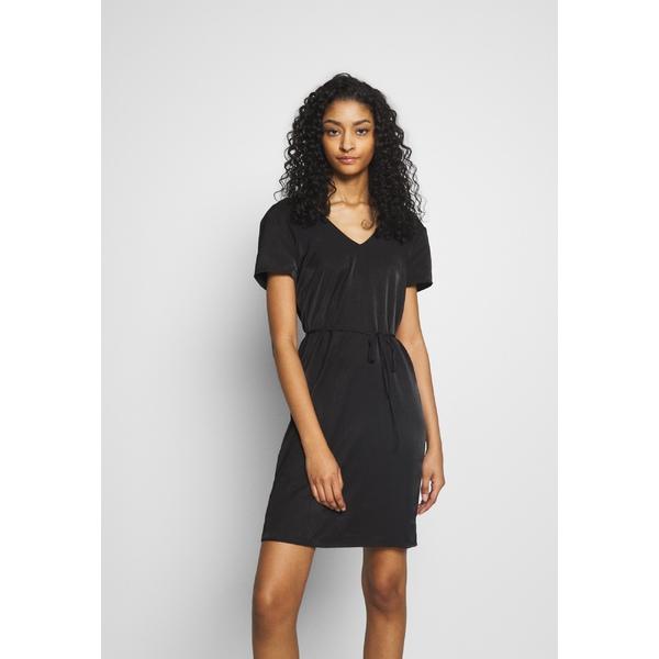 オブジェクト レディース トップス ワンピース black 全商品無料サイズ交換 OBJEILEEN LACE V-NECK DRESS dress 2020 新作 - Day vlji0068 サービス