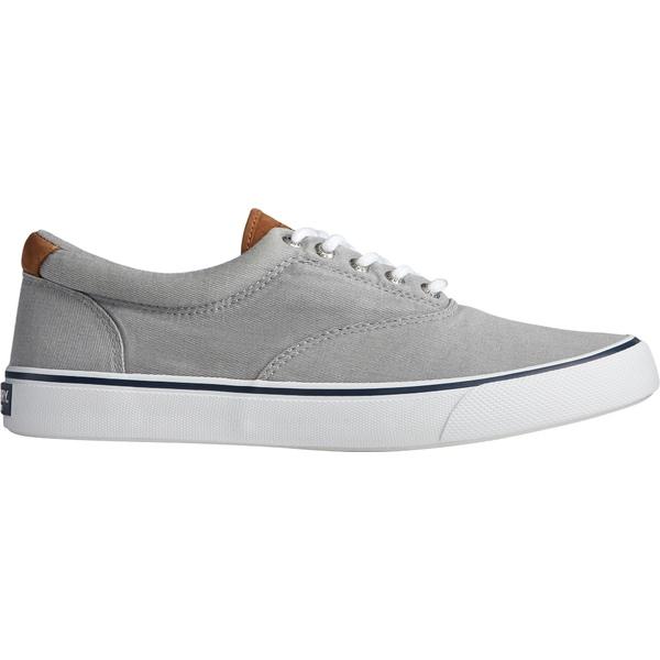 トップサイダー メンズ スニーカー シューズ Sperry Men's Striper II CVO Salt Wash Casual Shoes Grey