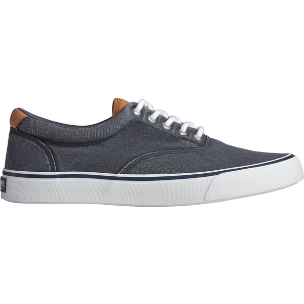 トップサイダー メンズ スニーカー シューズ Sperry Men's Striper II CVO Salt Wash Casual Shoes Navy