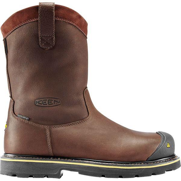 """キーン メンズ ブーツ&レインブーツ シューズ KEEN Men's Dallas Wellington 10"""" Waterproof Steel Toe Work Boots DarkBrown"""