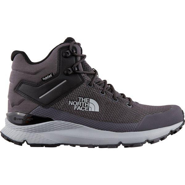 ノースフェイス メンズ ブーツ&レインブーツ シューズ The North Face Men's Vals Mid Waterproof Hiking Boots BlackenedPearl/TnfBlack