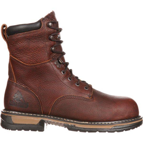 """ロッキー メンズ ブーツ&レインブーツ シューズ Rocky Men's IronClad 8"""" Waterproof Steel Toe Work Boots Brown"""