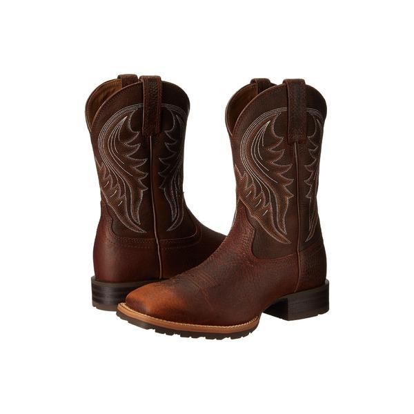 アリアト メンズ ブーツ&レインブーツ シューズ Hybrid Rancher Brown Oiled Rowdy