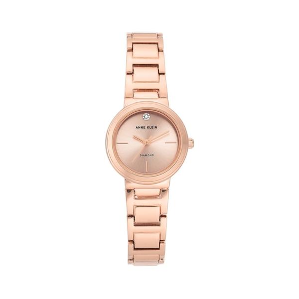 アンクライン レディース 腕時計 アクセサリー Rose Goldtone & Diamond Bracelet Watch Rose Gold