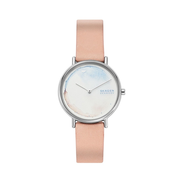 スカーゲン レディース 腕時計 アクセサリー Signatur Blush Leather Watch Pink