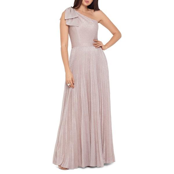 エスケープ レディース ワンピース トップス Metallic One-Shoulder Gown Blush