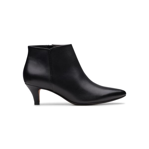 クラークス レディース パンプス シューズ Linvale Sea Leather Booties Black