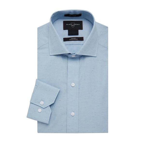 ブラック・ブラウン1826 メンズ シャツ トップス Long-Sleeve Dress Shirt Light Blue