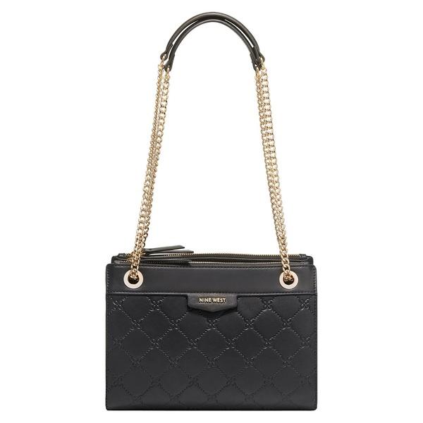 ナインウェスト レディース ショルダーバッグ バッグ Cara Quilted Faux Leather Shoulder Bag Black