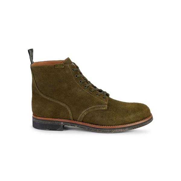 ラルフローレン メンズ ブーツ&レインブーツ シューズ Suede Army Boots Hunt Green