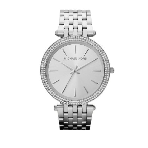 マイケルコース レディース 腕時計 アクセサリー Darci Pavé Stainless Steel Bracelet Watch Silver