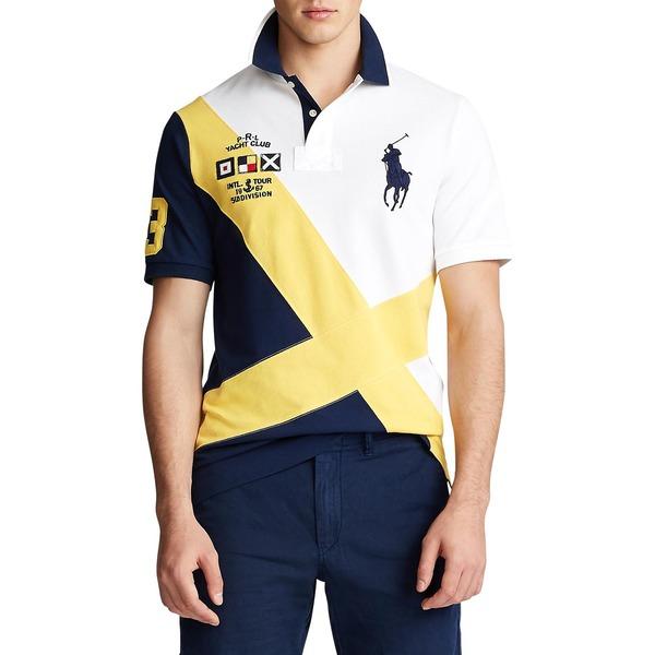 ラルフローレン メンズ シャツ トップス Classic Fit Mesh Polo Shirt White Multi