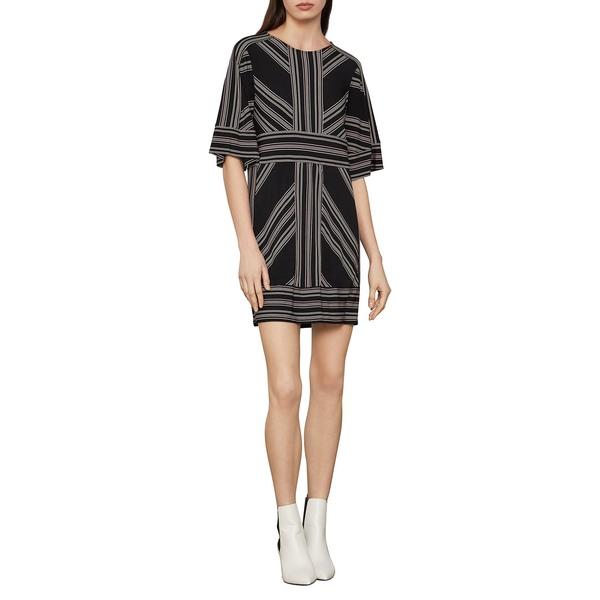 ビーシービージーマックスアズリア レディース ワンピース トップス Geometric-Print Shift Dress Black