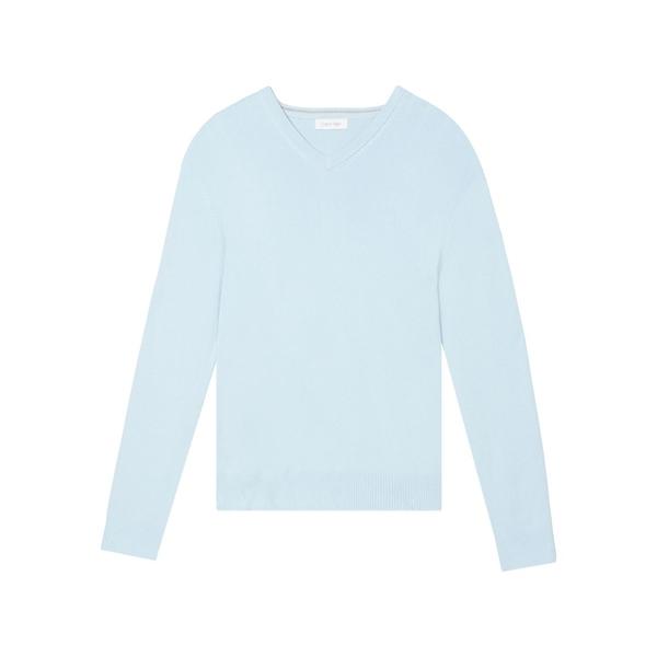 カルバンクライン メンズ ニット&セーター アウター Cotton-Blend V-Neck Sweater Cerulean