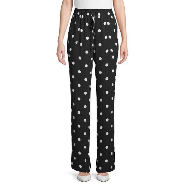 エリータハリ レディース カジュアルパンツ ボトムス Polka Dot Drawstring Pants Black White
