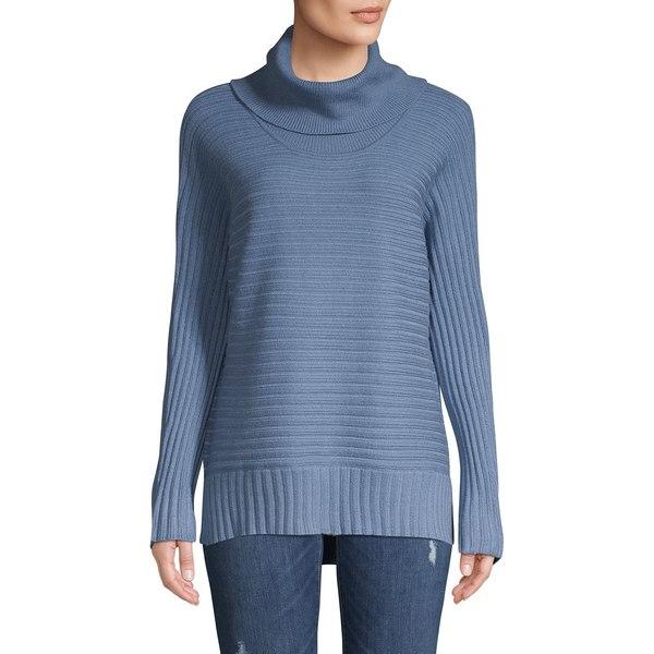 ジョーンズニューヨーク レディース ニット&セーター アウター High-Low Turtleneck Sweater Shadow Blue