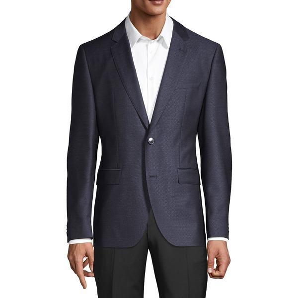 フューゴ メンズ ジャケット&ブルゾン アウター Jeffery Regular-Fit Virgin Wool Suit Jacket Dark Blue