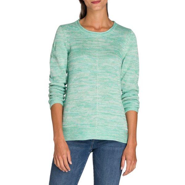 オルセン レディース ニット&セーター アウター Utility Chic Knit Long-Sleeve Sweater Jasmine Green