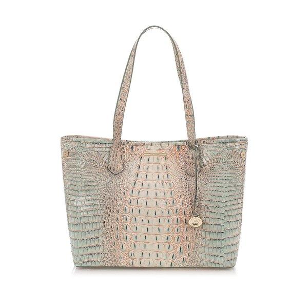 ブランミン レディース ハンドバッグ バッグ Medium Melbourne Julian Leather Tote Bag Aquarelle