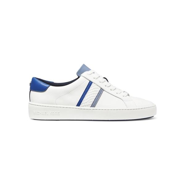 マイケルコース レディース スニーカー シューズ Irving Striped Leather Sneakers Vintage Blue