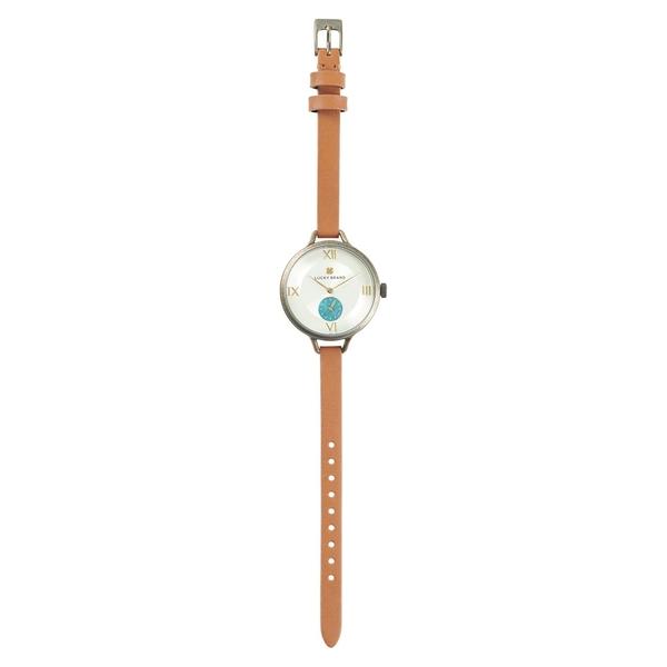 ラッキーブランド レディース 腕時計 アクセサリー Indio Stainless Steel & Leather-Strap Watch Tan