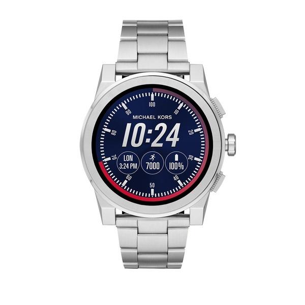 マイケルコース メンズ 腕時計 アクセサリー Access Grayson Stainless Steel Touchscreen Bracelet Smart Watch Silver