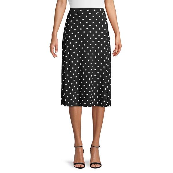カスパー レディース スカート ボトムス Polka Dot Skirt Black Multi