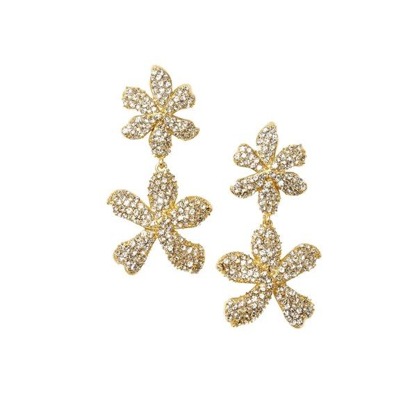 ヴィンスカムート レディース ピアス&イヤリング アクセサリー Goldtone & Crystal Flower Drop Earrings Gold