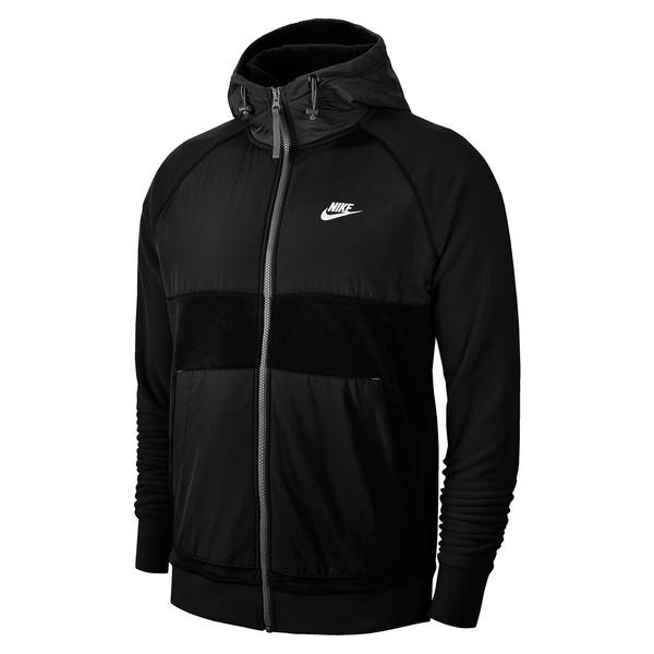 ナイキ メンズ ジャケット&ブルゾン アウター Full-Zip Fleece Jacket Black White