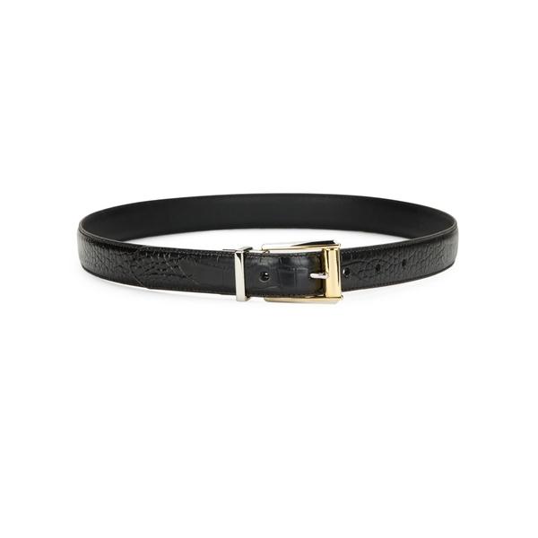 ラルフローレン レディース ベルト アクセサリー Textured Leather Belt Black
